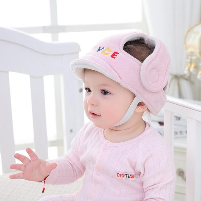 66fdc26b9e3 New Brand Baby Children Infant Adjustable Safety Helmet Headguard  Protective Harnesses Cap Girl Boy Walking Head Protection Hat