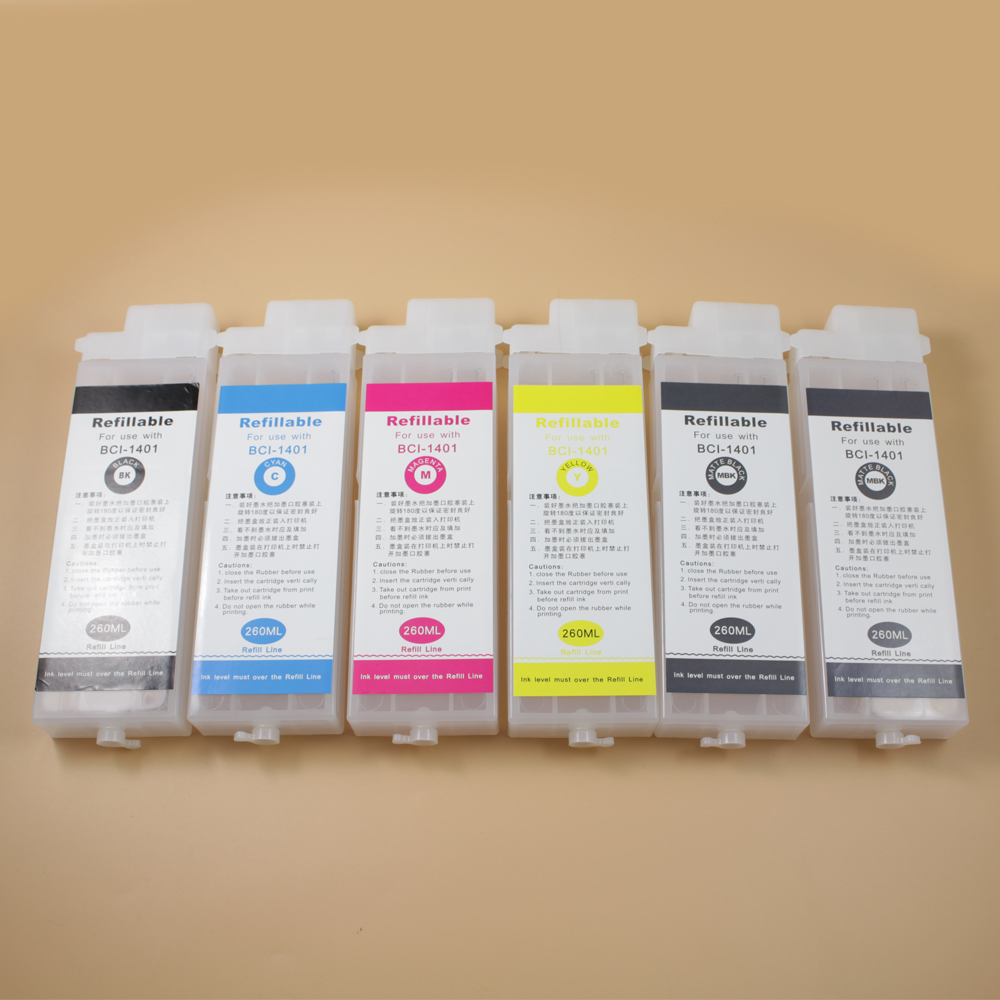 260ml PFI107 Empty Refillable Ink Cartridge for Canon IPF670 IPF680 IPF685 IPF770 IPF780 IPF785 Printer without