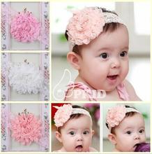 Lovely Baby Flower Bow Lace Headband Headwear Hair Band Girl Infant Toddler hair accessories children hair ornament YH506
