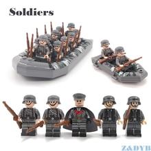 Военные наборы WW2 солдатские армейские аксессуары США оружие фигурки советская модель строительный блок кирпич Legoed детская Подарочная игрушка