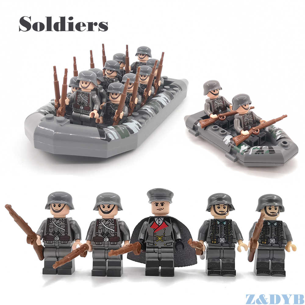 Military Sets WW2 Soldiers Army Accessories USA Weapons Guns Figures Soviet Model Building block brick Legoed Children Gift Toy