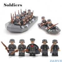 Military Sets WW2 Soldaten Armee Zubehör USA Waffen Pistolen Figuren Sowjetischen Modell baustein ziegel Legoed Kinder Geschenk Spielzeug