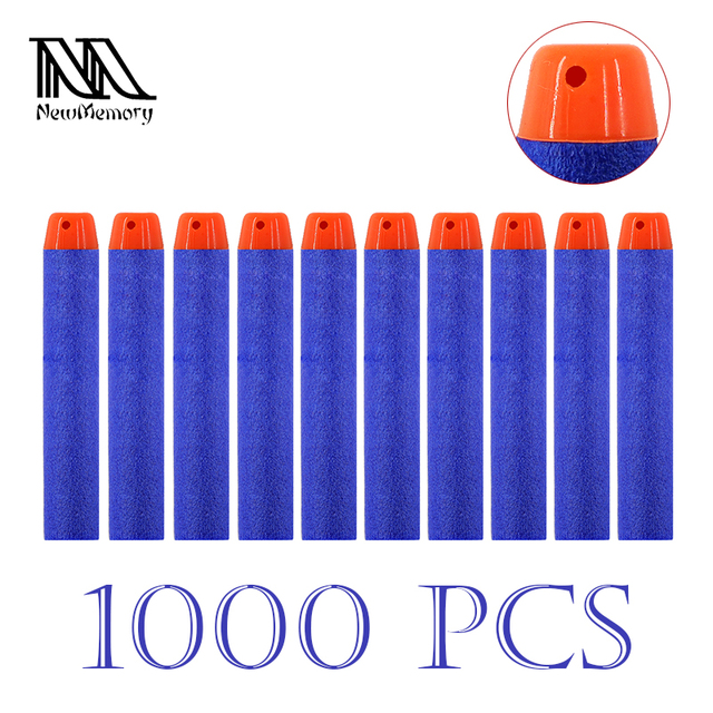 1000PCs Wholesale 7.2cm Refill Darts Toy Gun Bullets for Nerf Series  Blasters Hollow Hole Head