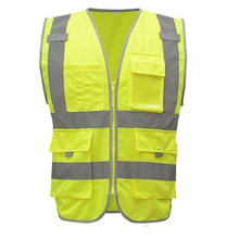 Highlight Visibility Safety Vest Night Visibility Safety Vests Reflective Motorcycle Construction Sleeveless Garment(China)