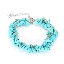 Irregular Colorful Stones Charm Bracelets & Bangles Natural Bracelet Boho Femme for Women 2018 New Jewelry