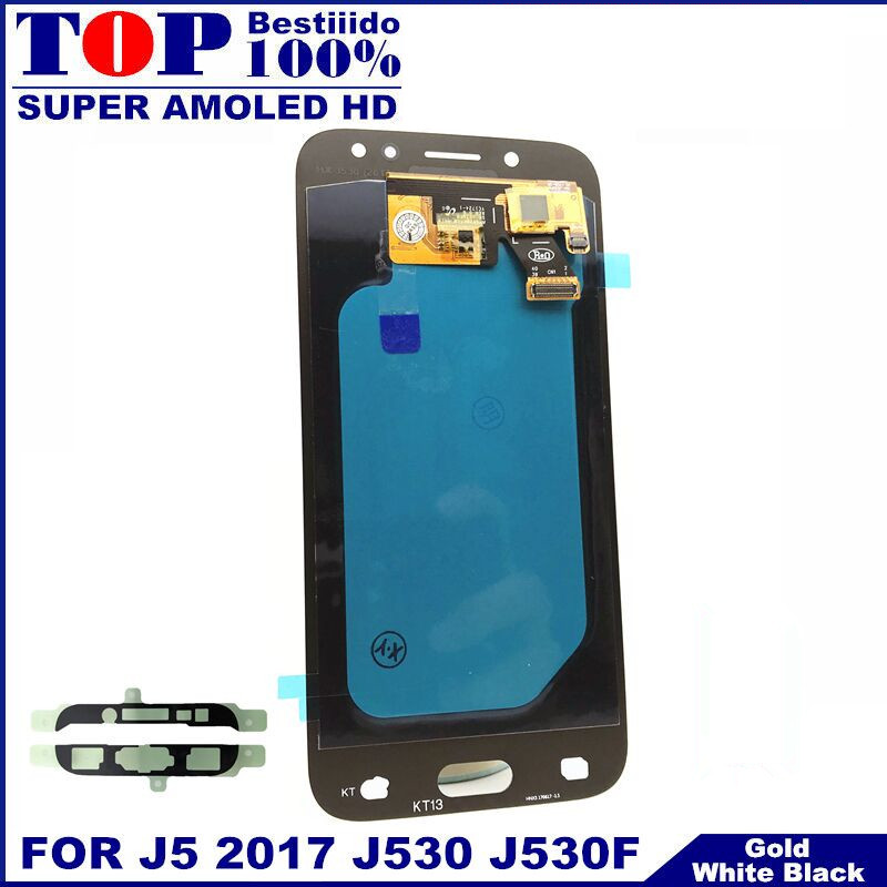 For Samsung Galaxy AMOLED LCD J5 2017 J530 SM-J530F J530M LCD Display Touch Screen Digitizer Assembly With Brightness Adjustment(China)