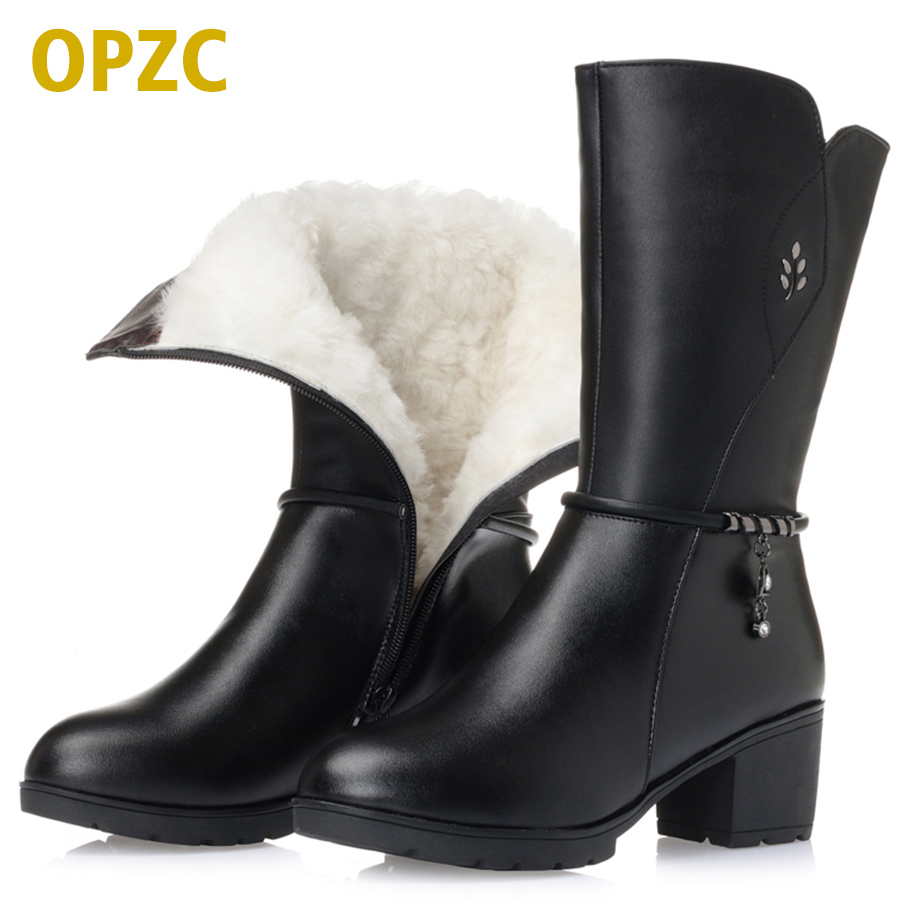 Snow boots women ladies boots for winter big size 42 43 genuine leather women boots warm wool cotton shoes martin boots women fall and winter girls boots knitted wool boots elastic cotton cloth boots