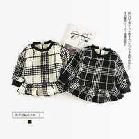 Baby Princess Girl Wedding Birthday Dress Plaid Children Clothes Infant Designs GIRL S Vestido Winter New