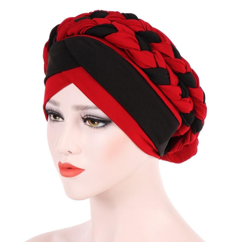 Headwear   Cap African Style Muslim Turban Hair Accessories Fashion Women Patchwork Braided Bandanas   Headwear   Cap African Style