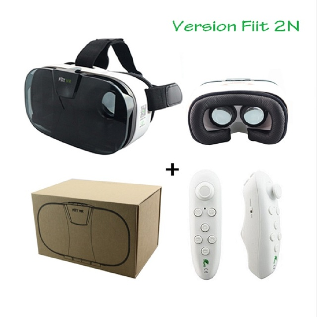 Original NEW FIIT VR 2N Google cardboard Version Virtual Reality 3D Glasses HD VR  vr box vr park+white Bluetooth  gamepad