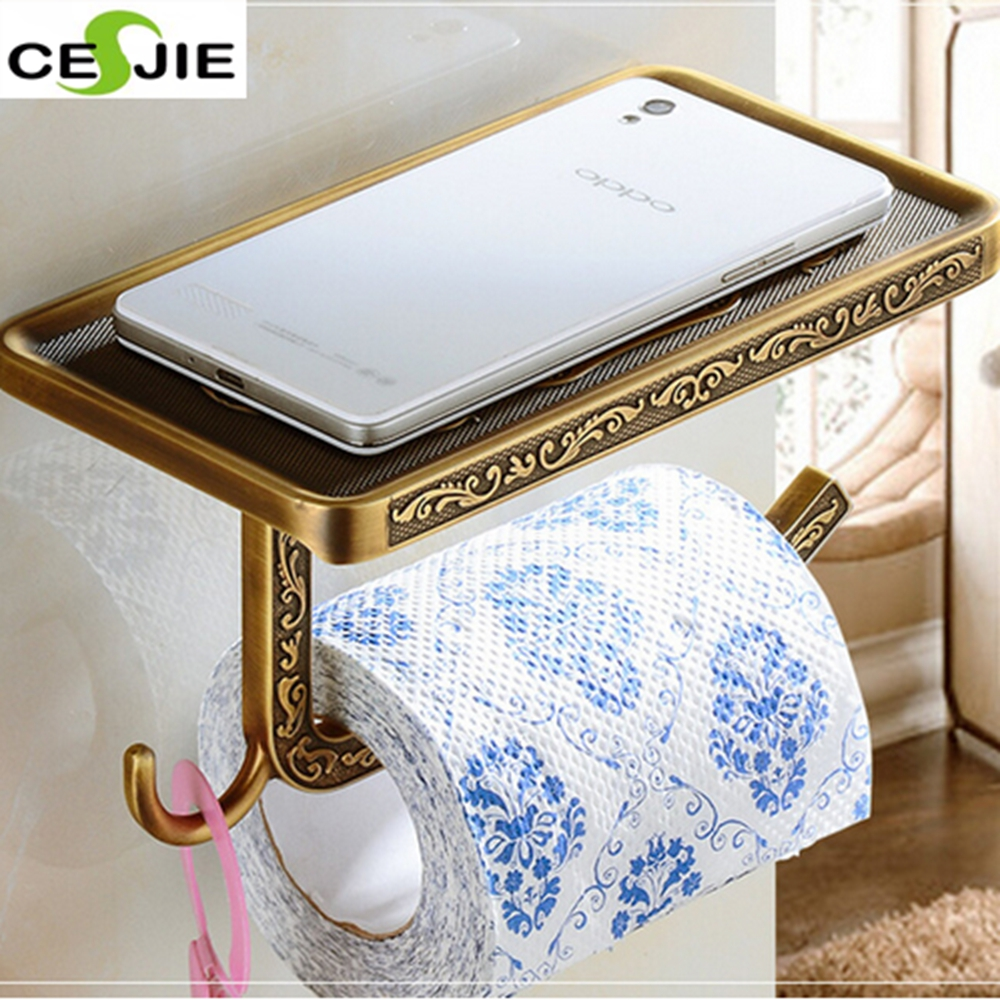 ФОТО Free Shipping Wholesale And Retail Vintage Euro Antique Brass Bathroom Toilet Paper Holder Artistic Roll Tissue Rack