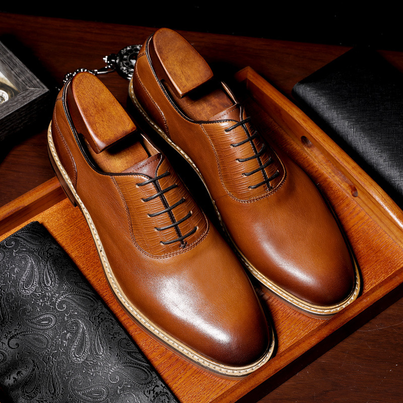DESAI Brand Luxury Business Style Men Dress Leather Shoes Genuine Leather Oxford Shoes Formal Men Wedding Shoes zapatos
