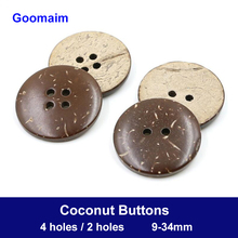 100pcs natural color 2/4 holes black shell buttons texture shirt for crafts sewing decorative DIY
