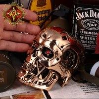 OGRM crafts Терминатор Genisys бронза череп T800 ремесла модель Терминатор Genisys фигурки героев 1:2 металла Череп терминатора