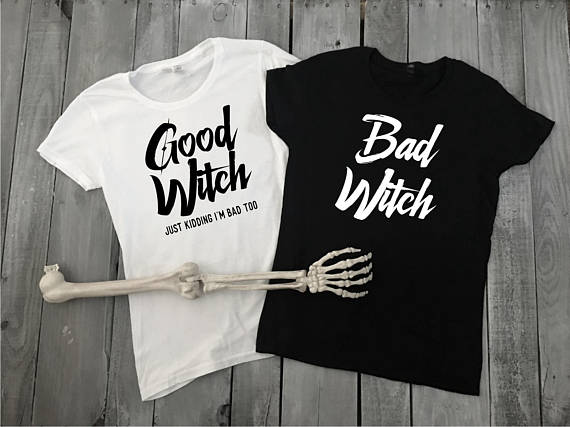 Halloween Friends Shirt.Us 7 9 15 Off Good Witch Bad Witch T Shirts Women Tshirt Best Friend Halloween Cotton Shirts High Quality Party T Shirt Funny Girls Trend Tops In