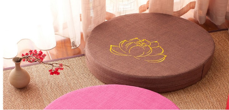HTB120JQe8Kw3KVjSZFOq6yrDVXaH Japanese-style futon worship Buddha sitting cushion fabric washable round linen balcony window tatami mat meditation lotus