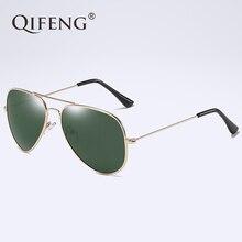QIFENG Pilot Polarized Sunglasses Men Women Driver Aviation Sun Glasses For UV400 Male Female Driving Fishing Oculos de QF019
