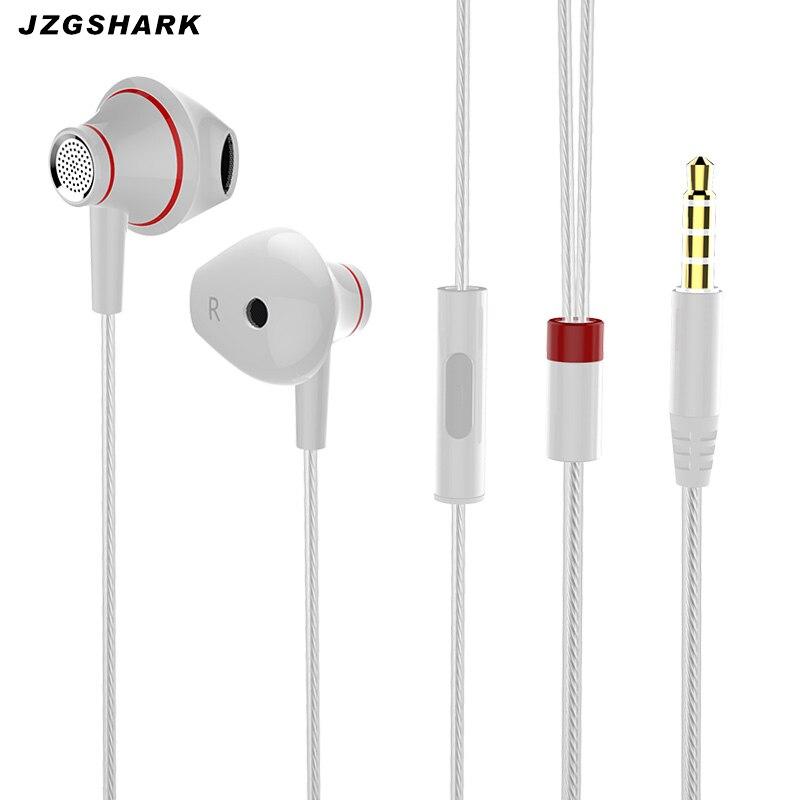 Wired Fone de ouvido de Metal fone de ouvido 3.5 MM Estéreo Portátil Esporte Running xiomi Fones De Ouvido com Microfone para o Telefone Móvel