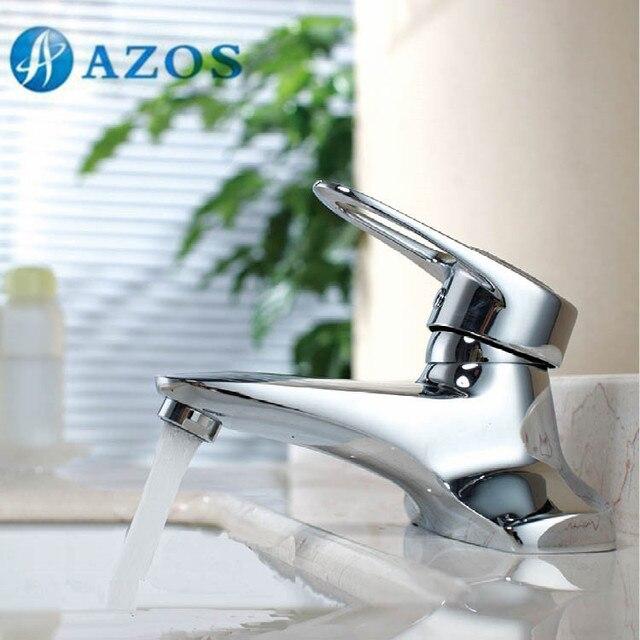 Azos Bathroom Basin Tap 2 Holes Brass Chrome Polish Bathroom