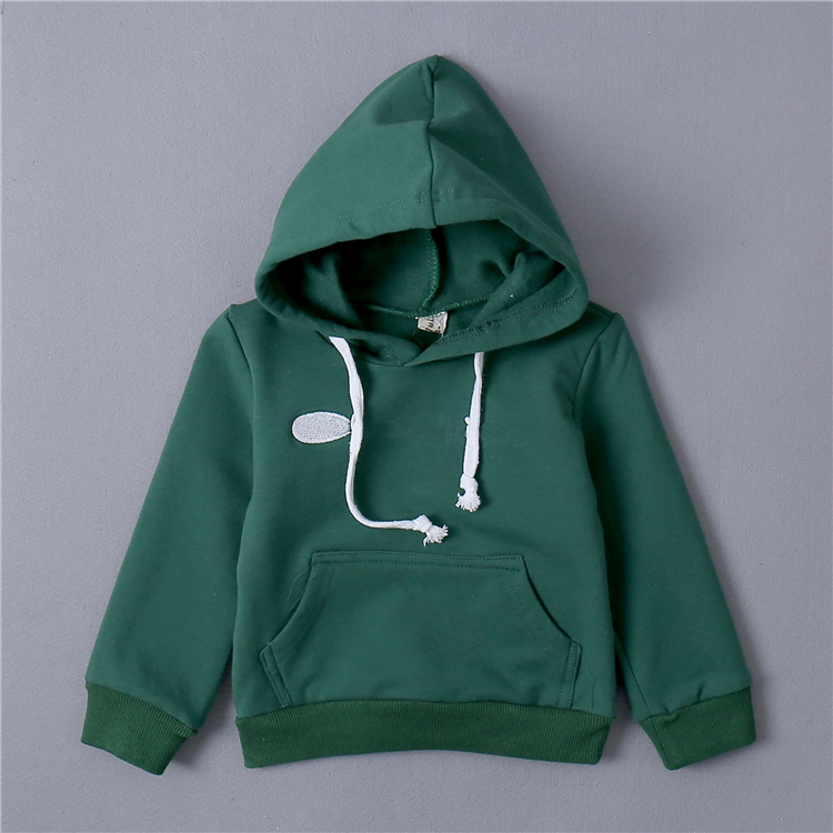 little boys sweatshirt fleece 2017 baby child casual outerwear with hood pullover spring and autumn cotton