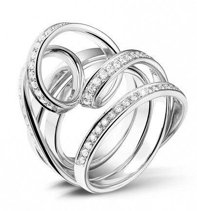 Bagues de mariage en argent sterling pour femmes bague de mariage unique conceptions bague en argent 925 femmes pave bande de mariage