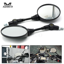 Universal Motorcycle Rearview Mirror folding round 8mm 10MM Side Miroir For Ducati Monster 696 796 821 Suzuki SV650 SV650X GN125