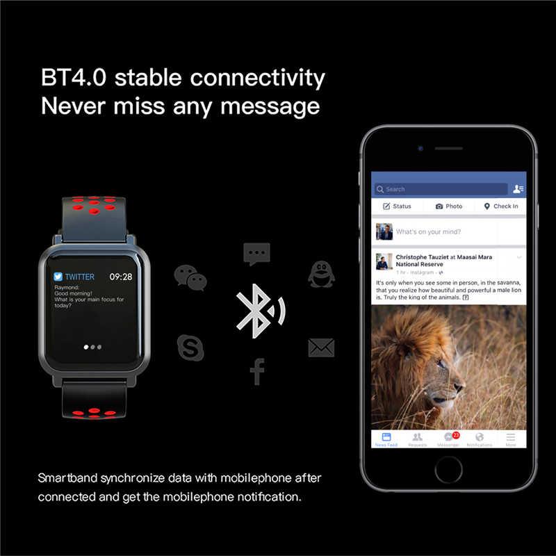 2018 Best Selling Cor Da Tela Dos Homens das Mulheres de Fitness Esportes Olhar Inteligente Relógio Inteligente da Frequência Cardíaca Pressão Arterial Rastreador Bluetooth