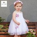 DB3280 дэйв белла лето девочка платье принцессы ребенка белый weddingl платье рождения детей одежда платье девушки Лолита платье
