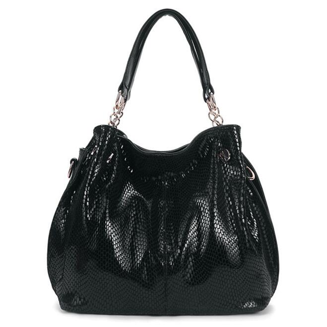 Luxury brands  women handbags Leather shoulder bag Ms snakeskin grain slanting a