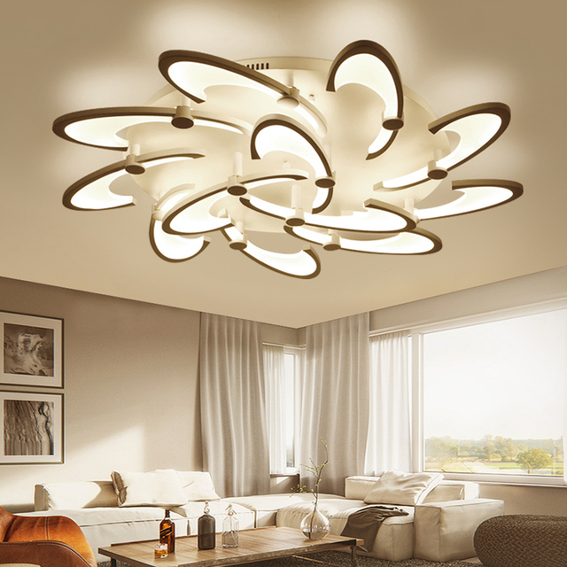 Lican Acrylic Modern Led Chandeliers For Living Study Room Home Dec White Re Plafonnier Chandelier Fixtures