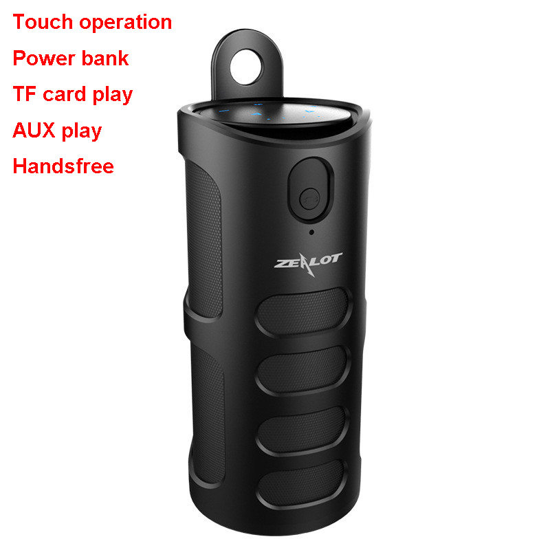 Touch Control Wireless Mini Portable Bluetooth Speaker Altavoz Lautsprecher Support Powerbank AUX TF Card Anti Shock TPU Cover