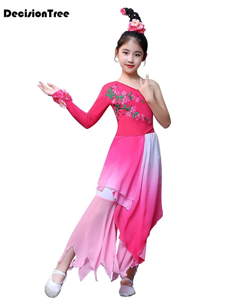 2019 new girls chinese traditional hanfu dress ancient chinese opera tang han ming costume dynasty child clothing folk dance chi in Dresses from Mother Kids