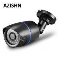 AZISHN 2.8mm de large caméra IP 1080 P 960 P 720 P ONVIF P2P détection de mouvement RTSP alerte email XMEye 48 V POE Surveillance CCTV en plein air