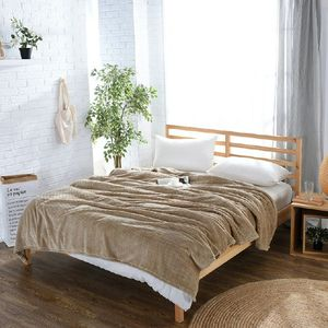 Image 1 - CAMMITEVER 24 Farben Home Textil Feste Luft/Sofa/Bettwäsche Werfen Flanell Decke Winter Warme Weiche Bettlaken 150/180*200cm 200*230cm