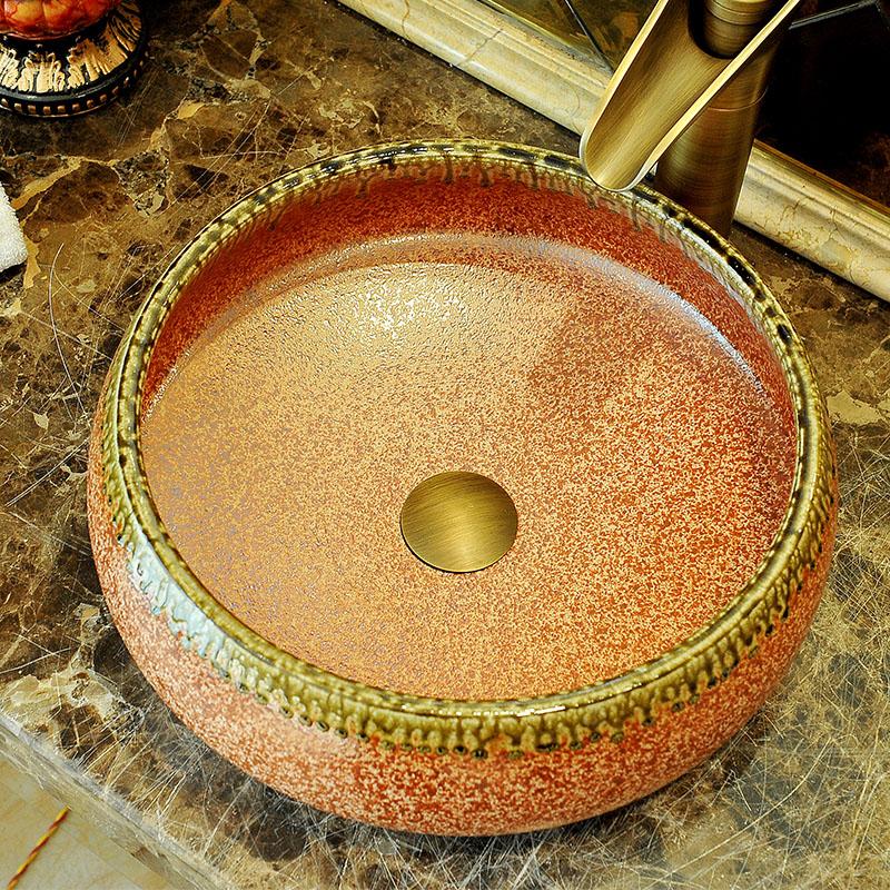 China Artistic Porcelain Handmade Porcelain Lavabo Bathroom Vessel Sinks ceramic wash basin porcelain basin sink (2)