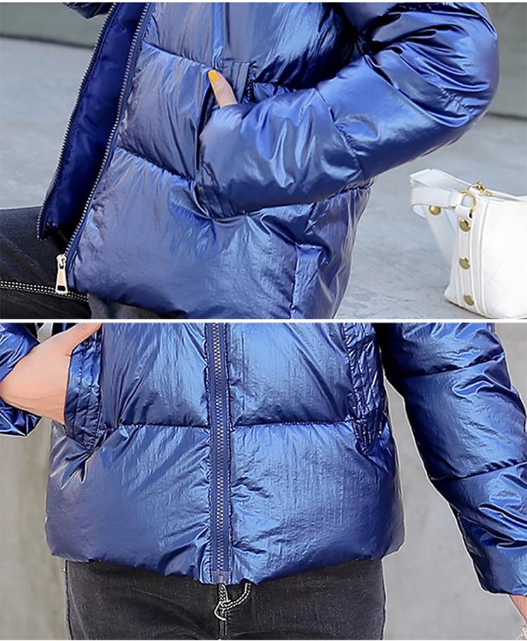 FORERUN damskie zimowe kurtka pikowana 2019 solidna