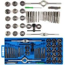 20/40 pçs/set ponta da chave de torneira métrica, e morre, conjunto de M3-M12 parafusos, tampões métricos, porca, parafuso, liga ferramentas manuais de metal,