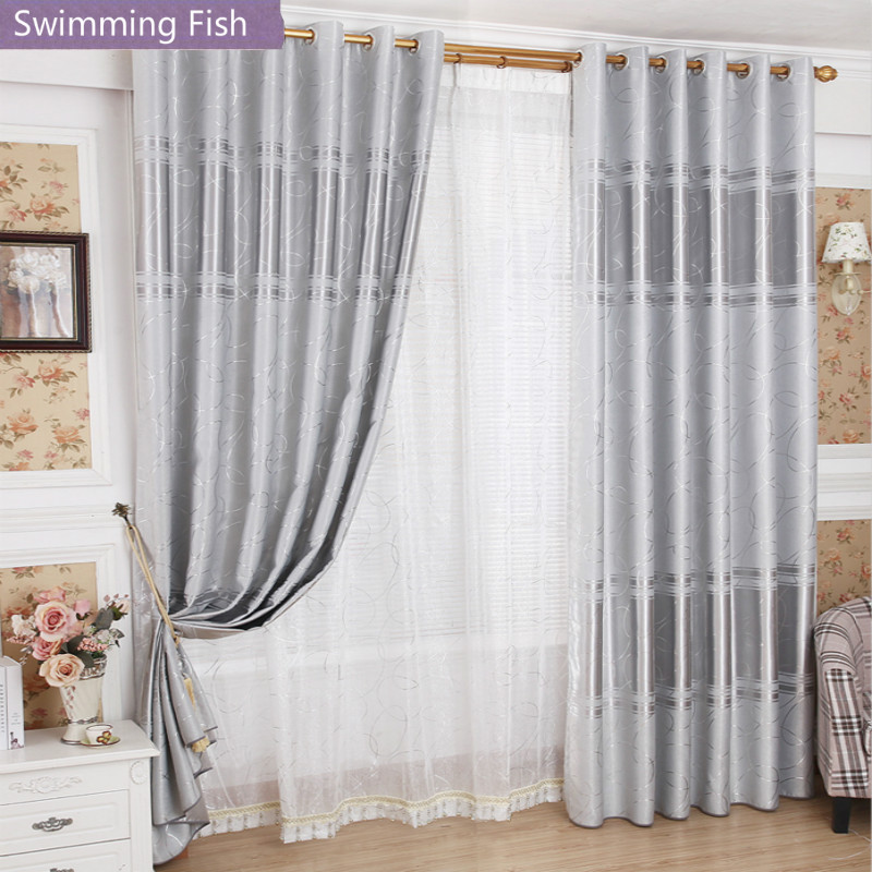 Modern Bronzing Blackout Curtain For Living Room Finished Window Treatment Curtain Drapes Bedroom Blinds Tulle Custom Curtain