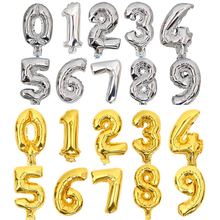 50pcs Wholesale Small 8inch 0-9 Gold Silver Color Number Foil