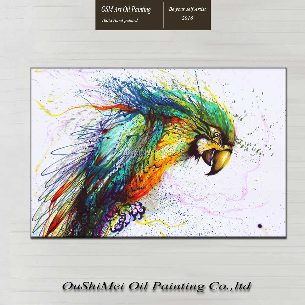 Most popular colorful little animal bird oil painting on for Watercolor paintings of hands