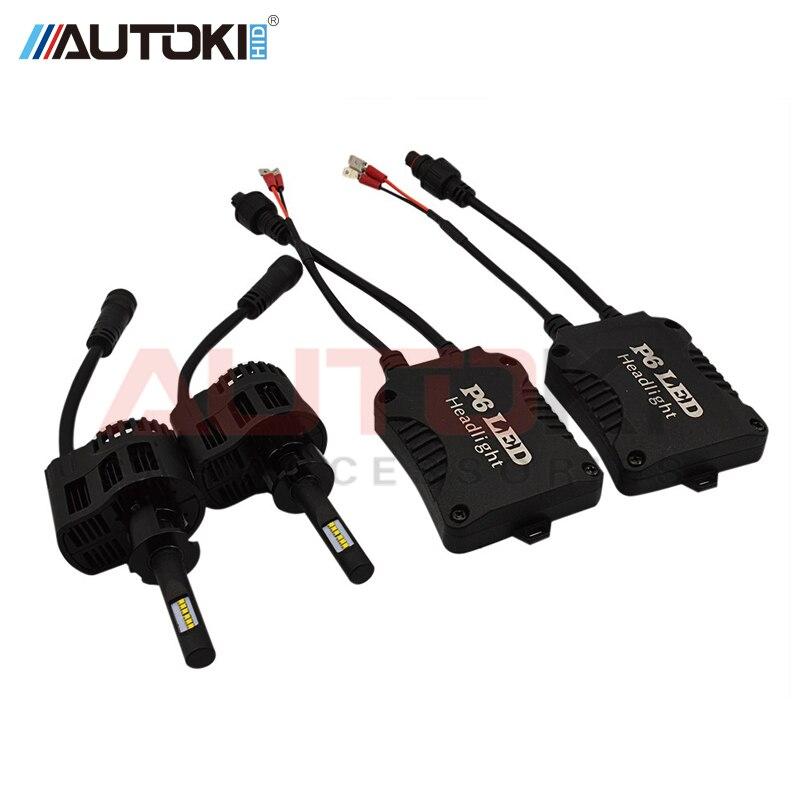Autoki High Quality 90W 9000LM P6 H1 H3 H7 H4 9005 9006 H15 5202 H11 Car