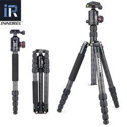 INNOREL RT55C Professional Carbon Fiber Tripod Travel Compact Camera Tripod Video Monopod with Ball Head & Quick Release Plate