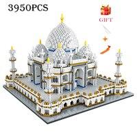 Architecture block set Landmarks Taj Mahal Palace Model Building Blocks Children Toys Educational 3D Bricks Kids Gifts