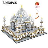 Architettura blocco set di Punti di Riferimento Taj Mahal Palace Modello di Costruzione Per Bambini Giocattoli Educativi 3D Mattoni Bambini Regali