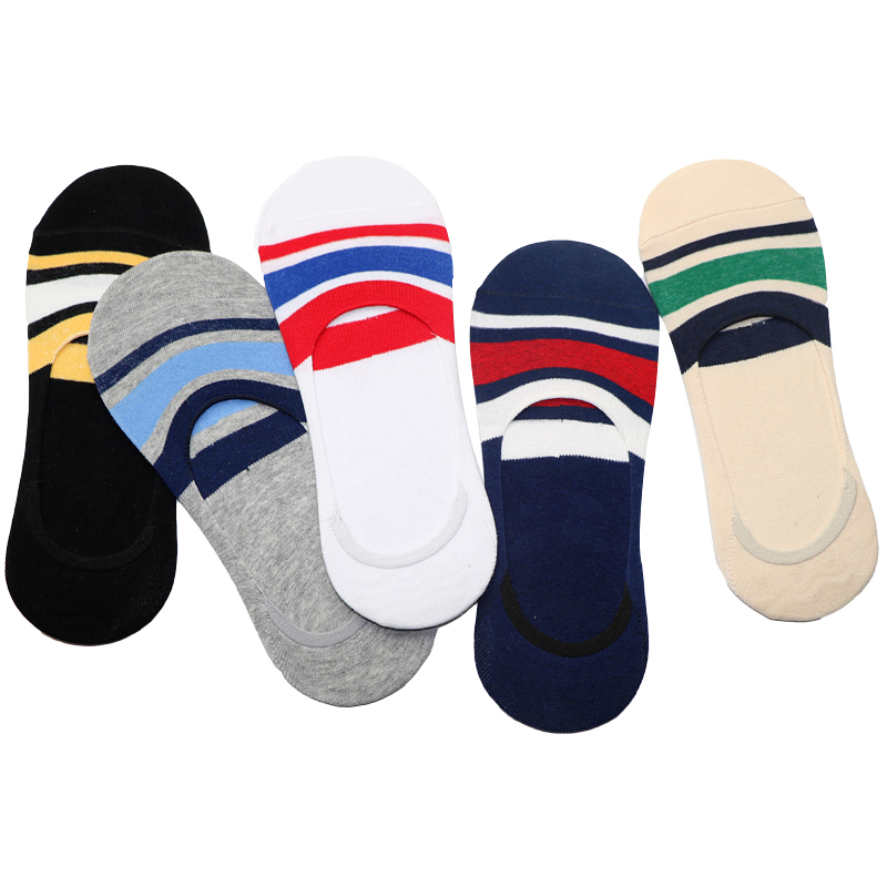 5Pairs Striped Male Ankle Socks Calcetines Hombre Mens Socks Striped Masculinas Dress Socks Short Men Meias Chaussette Homme