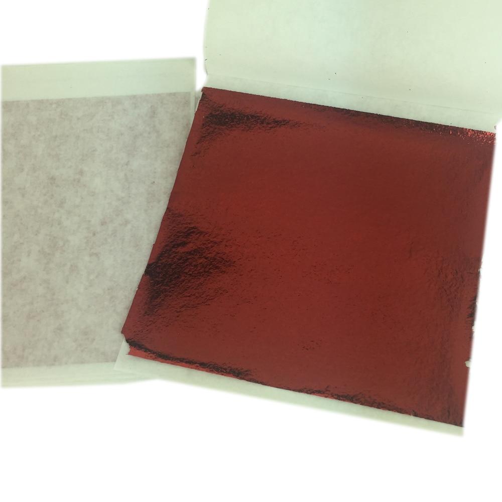 100PCS 14x14cm Gold//Silver//Copper Leaf Sheets Leaves Sheets Gilding Art Craft TW