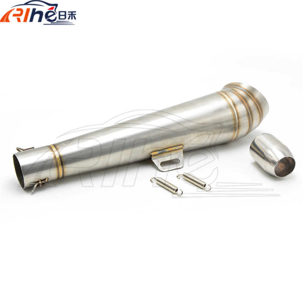 motorcycle staainless steel motorcycle exhaust pipe modified fried tube gp exhaust pipe For Kawasaki Z750 Z1000 Z800 ZX6R ZZR free shipping motorcycle modified muffler exhaust pipe through hole exhaust pipe for kawasaki z750 z1000 z800 zx6r zzr