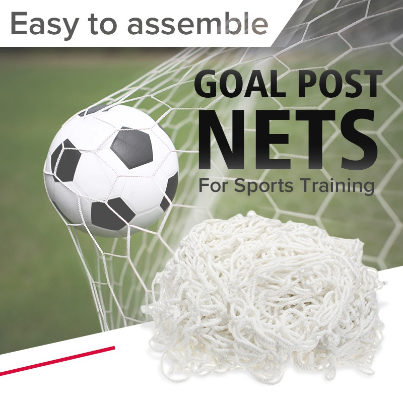 5 Size Soccer Goal Net Football Goal Net Football Soccer Goal Post Net For Sports Training Match Replace Adult Kid