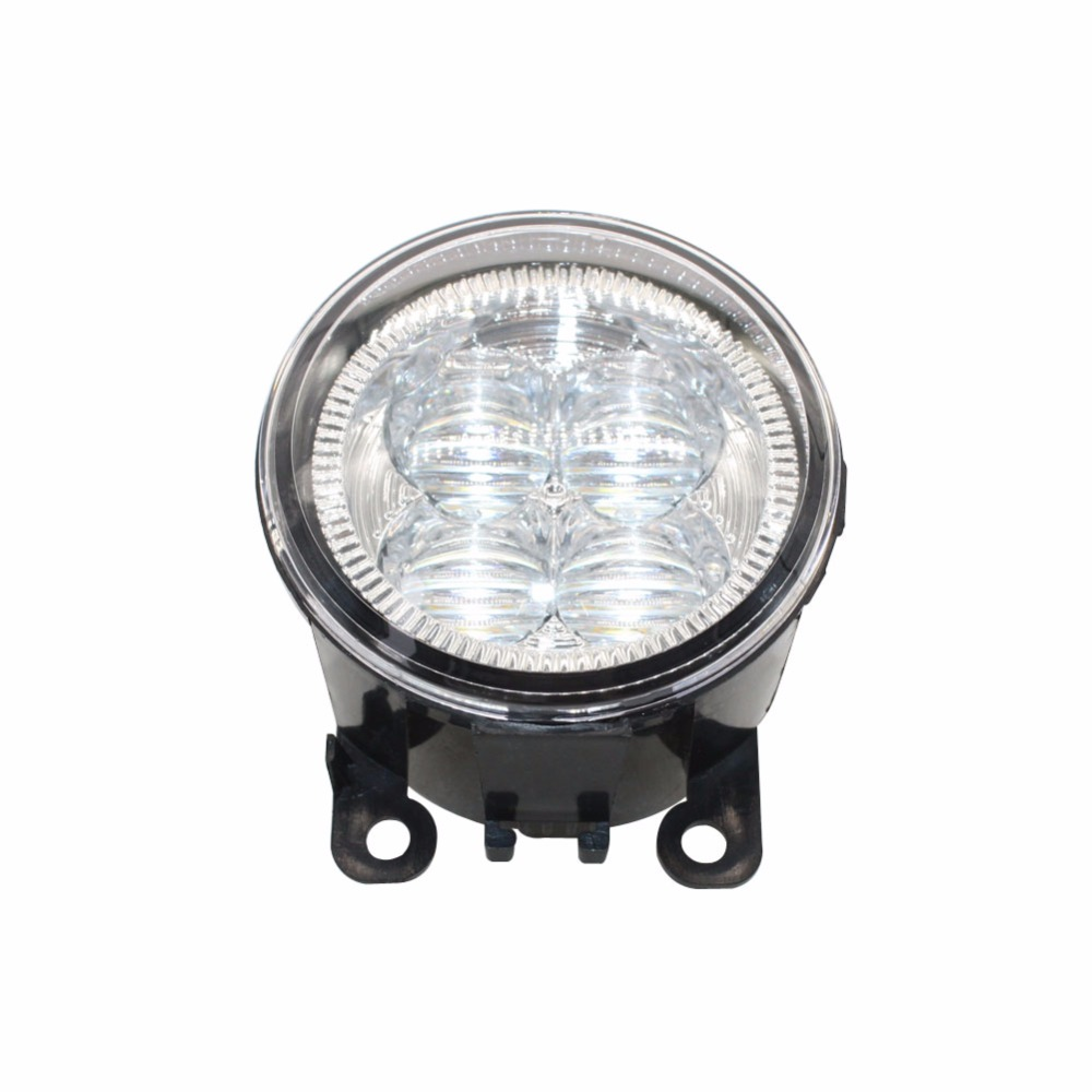 LED Front Fog Lights For Subaru Outback 2010-2012 Car Styling Bumper High Brightness DRL Driving fog lamps 1set for subaru outback 2010 2011 2012 car styling bumper angel eyes led fog lamps drl daytime running fog lights ocb lens