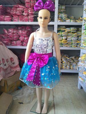 Детский танцевальный костюм, танцевальное платье с блестками для девочек, платье для сальсы, одежда для девочек, детская танцевальная одежда